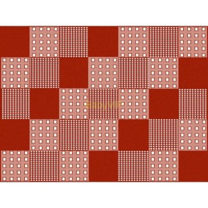 OUTLET|66623/ Dywan Patchwork Rojo 120 x 160 cm.