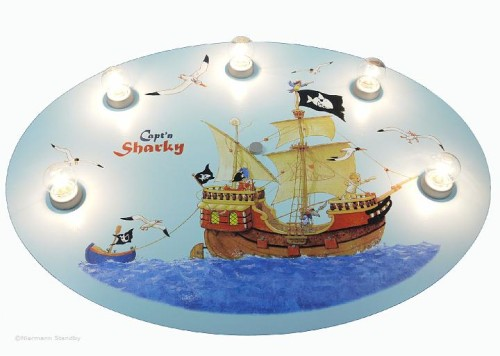OUTLET|Lampa - plafon Kapitan Sharky Niermann