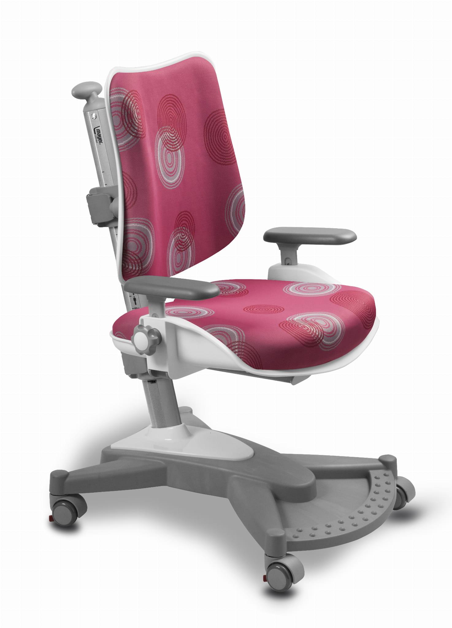 Krzesło ergonomiczne do biurka MyChamp różowe 26 33 59 cm